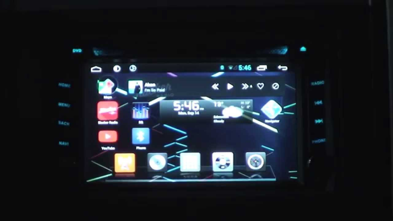 Review android car stereo dvd player head unit ouku brand
