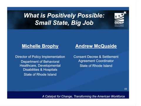 WEBINAR: Rising to the Occasion ADA, Olmstead & State Efforts to Promote Integrated Employment
