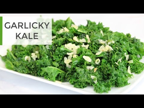 LIVE!  My Go To Kale Recipe | Easy Garlicky Kale
