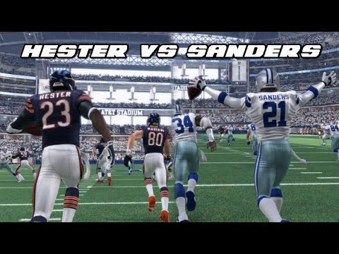 DEVIN HESTER vs DEION SANDERS Madden 16 Kick Return Challenge