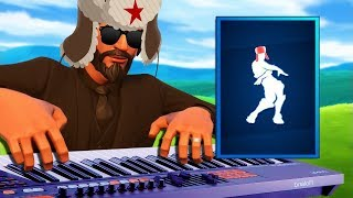 Fortnite Dances but they sound RUSSIAN on PIANO