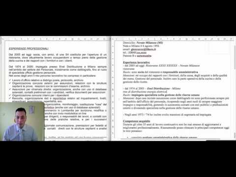 Curriculum Vitae - Revisione CV parte 2