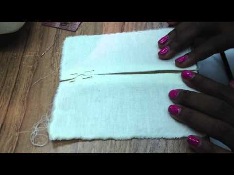how to make knife pleats