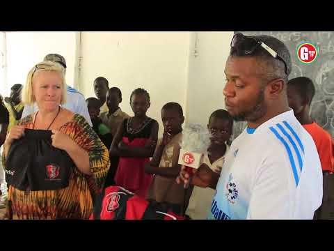 G-Tech Football Academy Donates Football Jerseys To Seedling Lower Basic School In The Gambia