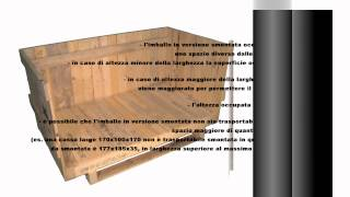 Cassa in legno travata Video