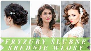 Modne fryzury na średnie włosy na wesele 2018