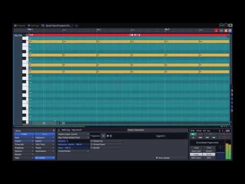 Tracktion Waveform Quick Tips 8 Custom Chords