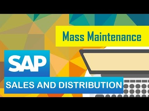 SAP SD | Mass Maintenance in Sales and Distribution | Mass M