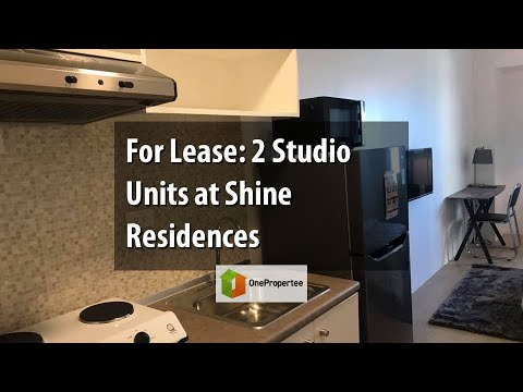 For Lease: 2 Studio Units at Shine Residences