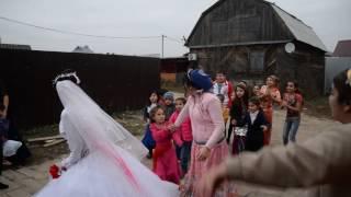 ЦЫГАНСКАЯ СВАДЬБА. невеста кидает букет. смотреть до конца кто поймал?