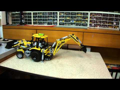 2015 08 22 LEGO Set MOC 0247   Fully PF Backhoe Loader test drive