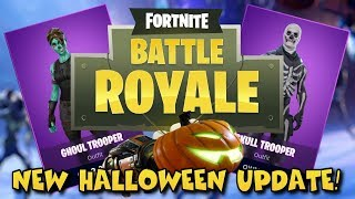 HALLOWEEN SKINS! - FORTNITE UPDATE 1.8 REACTION! (FORTNITEMARES)