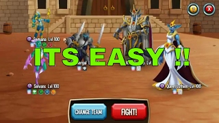 HOW TO BEAT LEVEL 240 IN MONSTER LEGENDS?