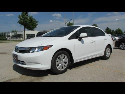 2012 Honda Civic LX Start up, Walkaround and Vehicle Tour