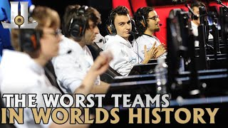 Looking Back at the Worst Teams in Worlds History | 2019 Lol esports