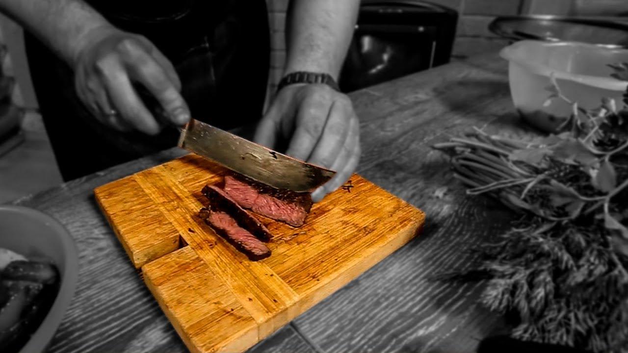 Медальоны из говядины на гриле. Вкуснейшие жареные овощи. Как запечь мясо на углях в фольге.