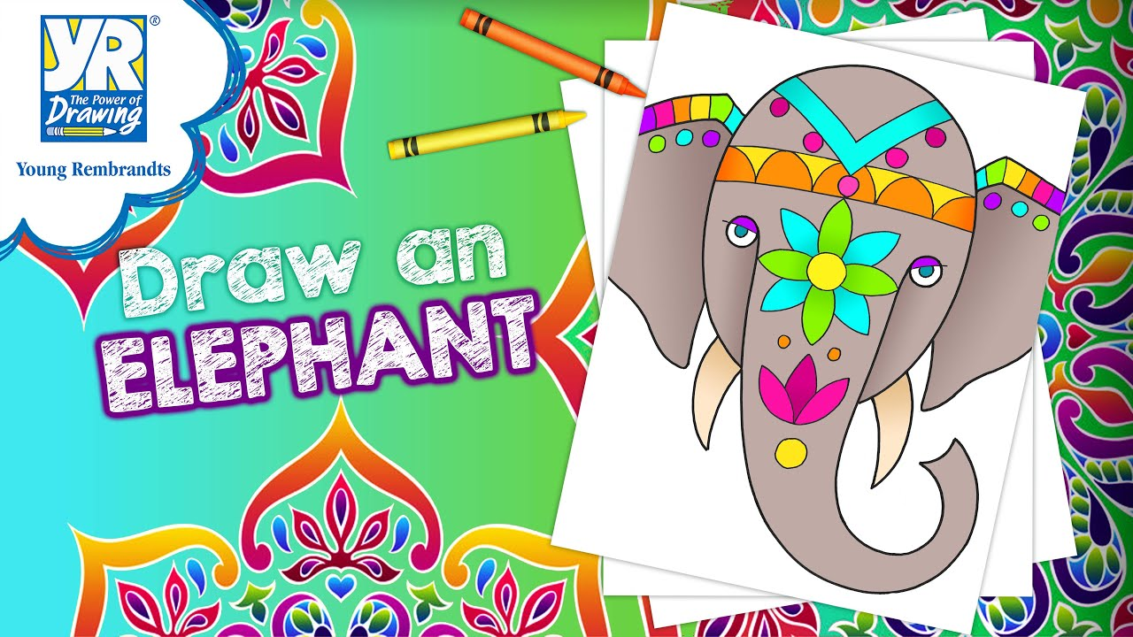 Teaching Kids How to Draw: How to Draw a Painted Elephant