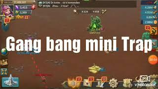 Lords mobile Indonesia    mini Trap di gang bang 😂😂