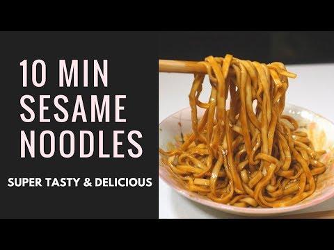 3 EASY STEPS (10MINS) To Make Sesame Noodles 麻酱拌面