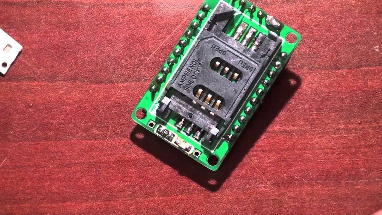 GSM модуль M590 урок 4 - YouTube