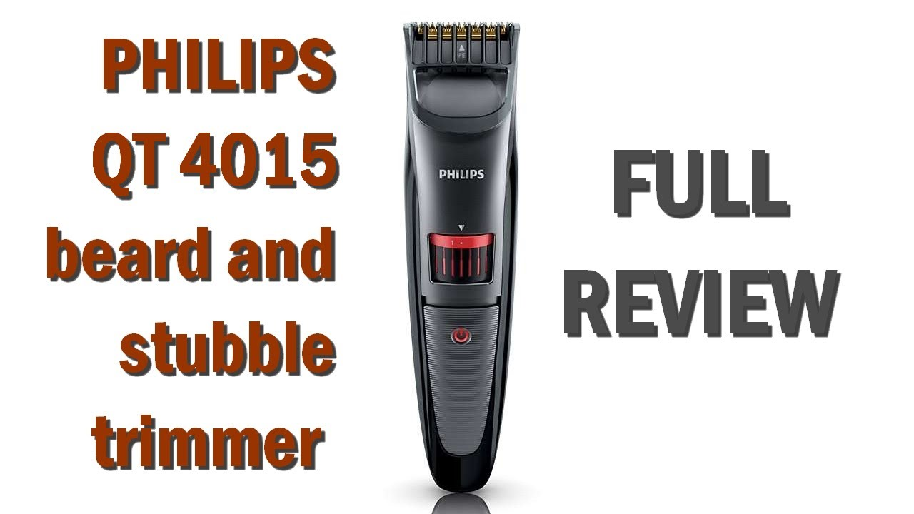 philips qt 4015 beard stubble trimmer full review youtube. Black Bedroom Furniture Sets. Home Design Ideas