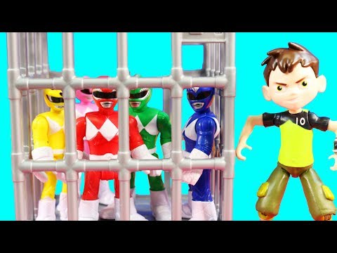 Ben 10 Aliens Rescue Imaginext Power Rangers From Replicating Goldar Toys