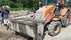 EXCAVATOR - FIAT KOBELCO FB 200 Mixing concrete, Concrete Mixer Bucket.