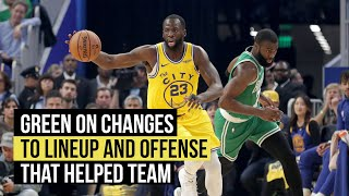Green says lineup change and new concepts helped keep Warriors in game