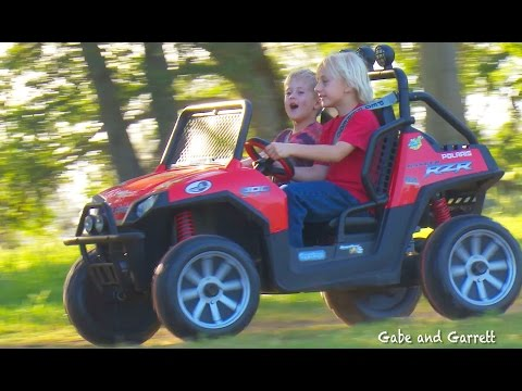 Peg Perego Polaris Ranger RZR 24v- Unboxing, Assembly & Riding!