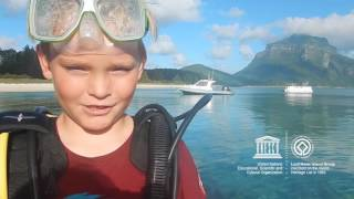 Julian #MyOceanPledge Lord Howe Island Group World Heritage marine site