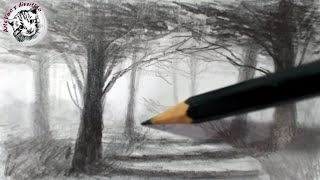 Como Dibujar un Bosque y lograr Profundidad y Atmosfera Tecnica de Dibujo a lápiz