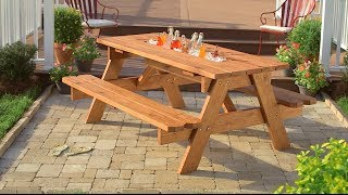 Cómo crear una mesa de picnic con hielera