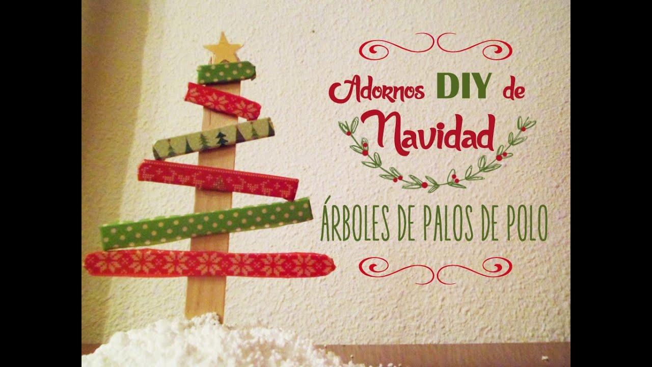 Manualidades adornos diy de navidad rboles con palos de - Adornos navidad diy ...