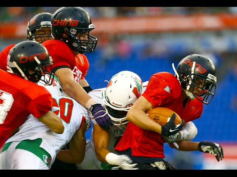 highlights China vs Mexico - 2nd World University American Football  Championship 2016