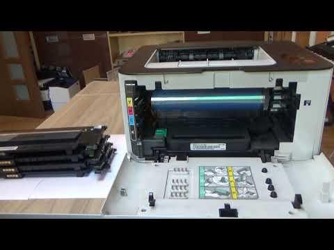 Samsung CLP-365 / SL-C410 Remove Install Replacing Toner Cartridge