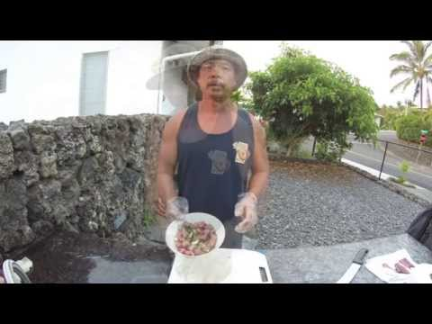 Roque Tayaba Jr How I Clean & Prepare Aku Poke Feb 2015 #16