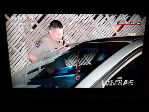 Live PD really stoned passenger laughing at cop