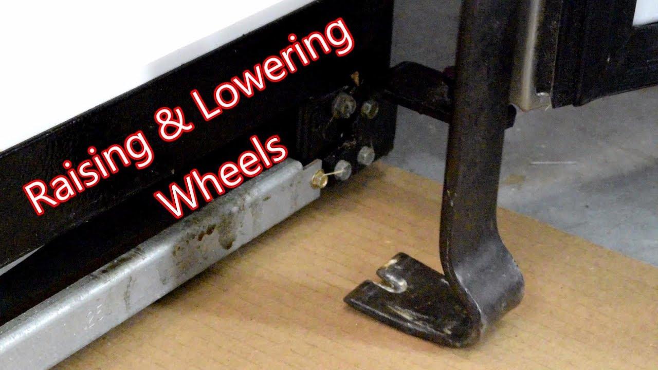 Raising And Lowering Wheels Ge Side By Refrigerator