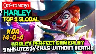 Harley Perfect Gameplay [ Top 2 Global Harley ] Qαℓ•тαмαgσ Harley Mobile Legends
