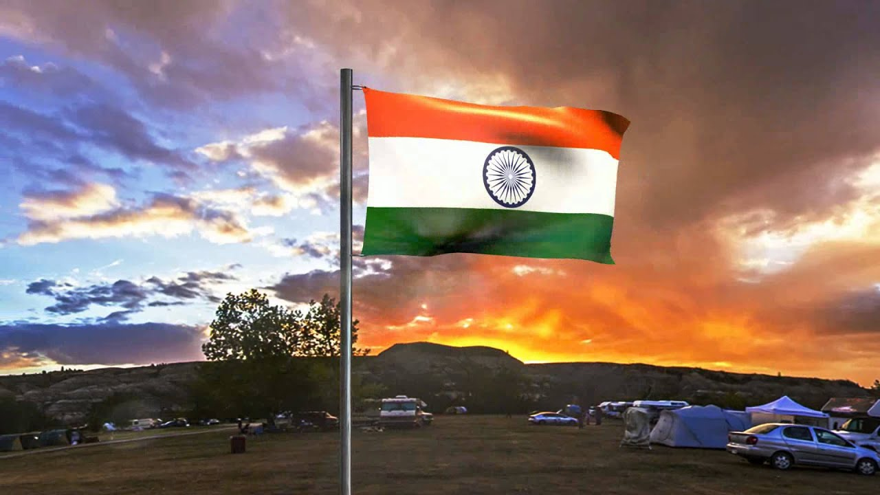 indian flag -cloth simulation in blender - youtube