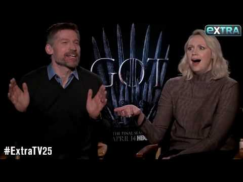 'They didn't appreciate the fun we were having.' - Gwendoline Christie & Nikolaj Coster-Waldau