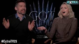 """They didn't appreciate the fun we were having."" - Gwendoline Christie & Nikolaj Coster-Waldau"