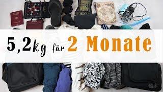 Richtig Packen: 2 Monate in Asien mit 5,2 kg Rucksack -  TEIL 1