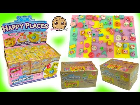 Full Box 30 Shopkins Happy Places Petkins Surprise Blind Bags with Popette Shoppies