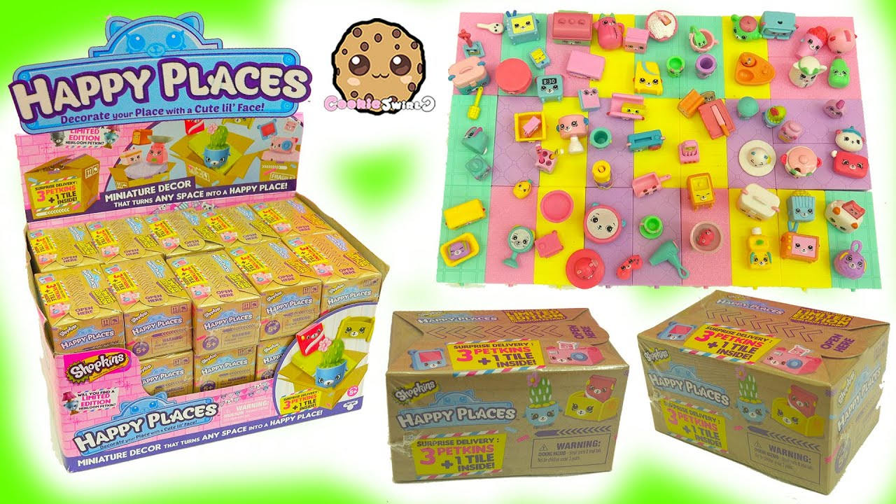 Download Full Box 30 Shopkins Happy Places Petkins Surprise Blind Bags with Popette Shoppies
