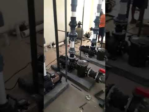 Instalasi pompa kolam renang olimpik 25x50 - YouTube