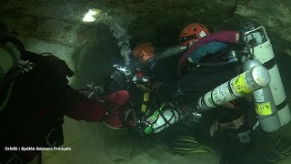 Französische Höhlentaucher wollen helfen