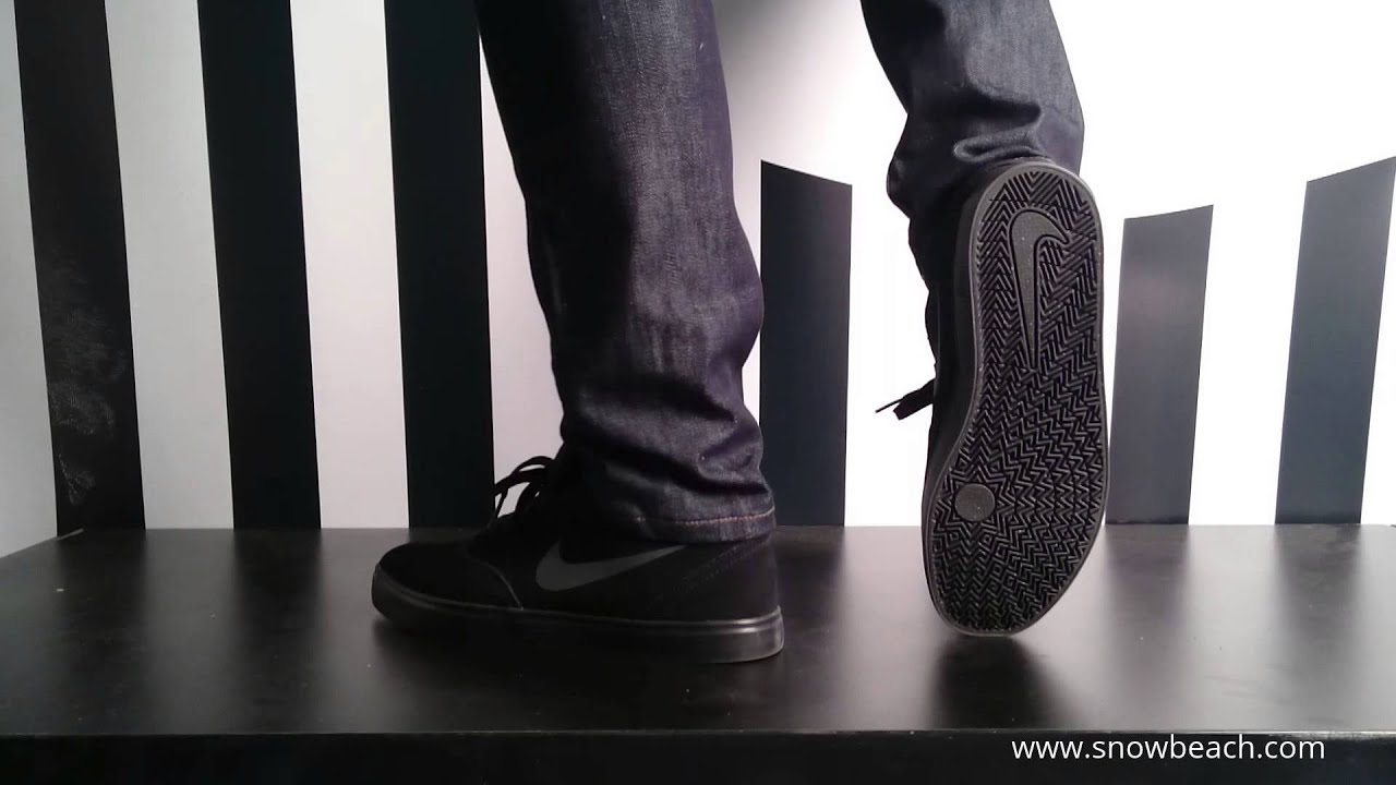 b2fc18f7c9ee Nike sb CHECK black black anthracite 705265 001 - YouTube
