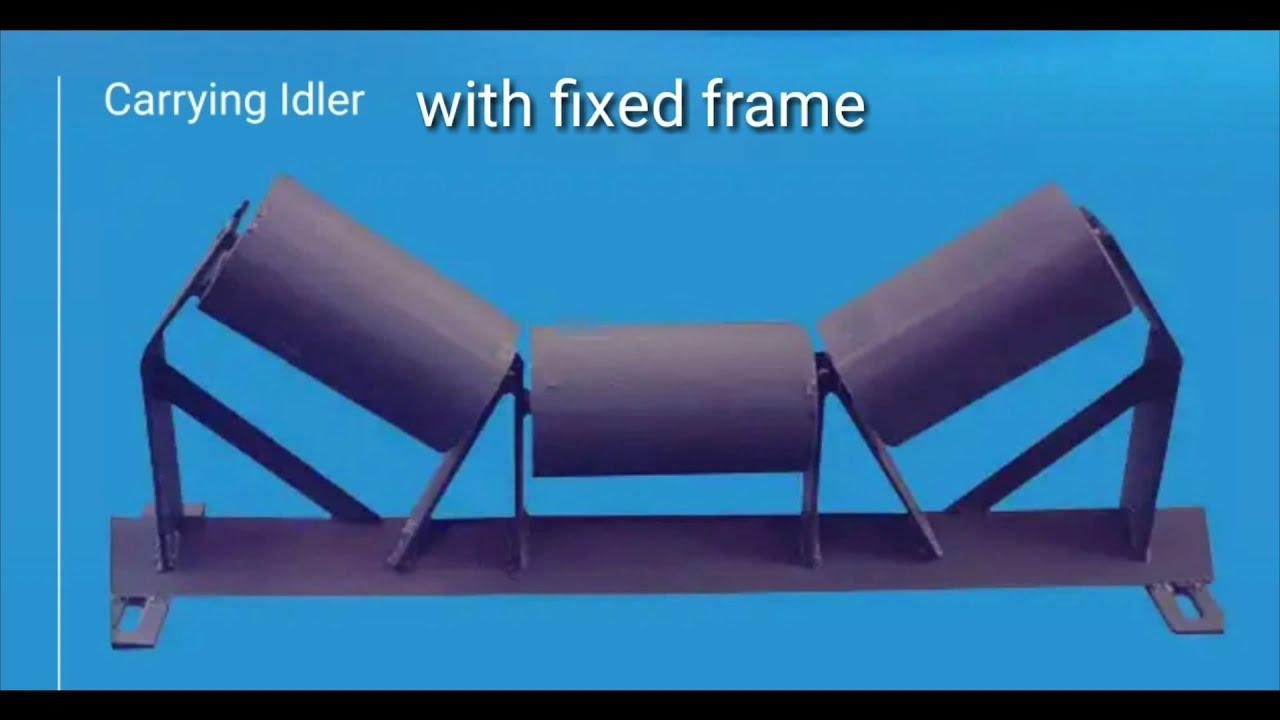 idlers|| carrying idlers|| return idlers||types of idler used in conveyor  belt||guide idler