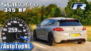 VW Scirocco R 315HP ACCELERATION & DRAGY GPS 0-259km/h by AutoTopNL